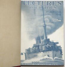 LECTURES POUR TOUS 1915 Relié / 1 janvier - 15 juin / WW1
