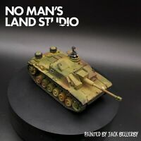 Pro Painted 28mm Bolt Action stug III Warlord Games w/ tank commander 1/56 scale