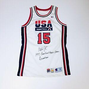 Magic Johnson 1992 USA Autographed Game Jersey Dream Team Olympics