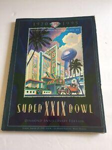 Super Bowl XXIX Game Program Miami FL 1/29/1995 sd chargers San Francisco 49ers