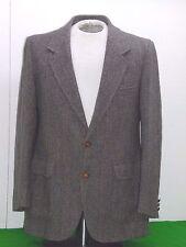 Pendleton 100% Virgin Wool Tweed Brown Men's jacket with suede 42 long
