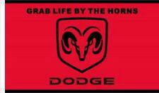 Nascar Dodge Ram Wincraft Grab Life By The Horns 3' X 5' Flag w/ Grommets NEW!