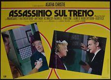 fotobusta ASSASSINIO SUL TRENO AGATHA CHRISTIE  RUTHERFORD MISS MARPLE POLLOCK