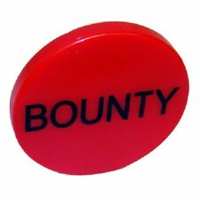 "(10) - Red 2"" ceramic BOUNTY Buttons chip"