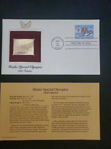 1985 Golden Replicas of US Stamps - Winter Olympics 1985 20c