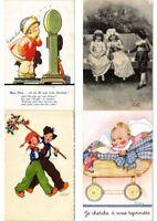 CHILDREN INFANTS Mostly ARTIST SIGNED 100 Vintage Postcards (PART 2.)