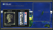 Palau 2010 MNH Penny Black 170th Anniversary 2v S/S Stamps on Stamps