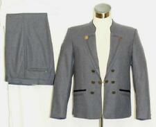 "WOOL SUIT Jacket Pants NAVY BLUE Men German Trachten Wedding SPORT / B42"" W34"" M"