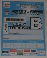 Ticket for collectors World Cup q * Poland - Czech Republic 2008 Chorzow SERVICE