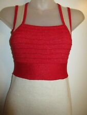 Wow Couture S Bandage Dress Metallic Color Block Red Nude Mesh Cocktail Party