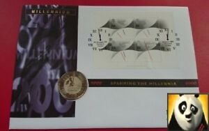 1999 2000 UK GB £5 Five Pound The Dual Dated Millennium First Day Coin Cover