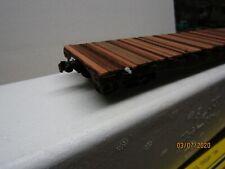 AMERICAN MODELS MILWAUKEE 46'  FLAT CAR SCALE WHEELS AM SCALE  COUPLERS