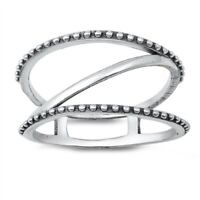 NEW! 925 Sterling Silver CAGE DESIGN RING SIZES 5-10