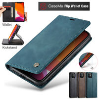 For iPhone 12 11 Pro XS Max 8 7 Plus XR Case Magnetic Leather Wallet Stand Cover