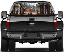 Deer in Forest Ver 1  Rear Window Graphic Decal Truck SUV Van Car