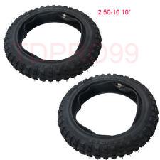 Pair 2.50x10  2.50-10 Tyre+Tube For Yamaha PW50 TTR50E KTM 50 XR50 CRF50 Pitpro