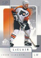 2000-01 SP Game Used Hockey #45 John LeClair Philadelphia Flyers