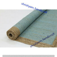 Jute Rectangle Weave Rug Area Rug Floor Carpet Handmade Jute Natural Rug Braided