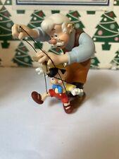 Christmas Disney Hallmark Keepsake Pinocchio & Gepetto Ornament New In Box