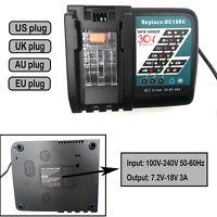7.2-18V Power Tool Battery Charger for Makita Power Tool Battery DC18RC DC18RA