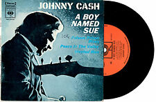 "JOHNNY CASH - A BOY NAMED SUE - RARE EP 7"" 45 VINYL RECORD PIC SLV 1969"