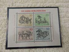 Briefmarken Block 125 Jahre Berliner Zoo