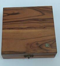 Israeli Vintage EL- AL ISRAEL AIRLINES Road Chess game Rare wooden box judaica