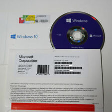 New Microsoft Windows 10 Pro Professional 64Bit - 1 Key COA License - DVD