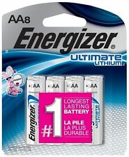 Energizer Ultimate Lithium AA Batteries 8 Pack Exp. 2037-2038 (L91BP-8)