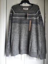 Men's Urban Pipeline Fairisle Crewneck Sweater Color:Gray Size: XXLarge New w/t