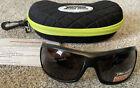 Peppers Novak Sunglasses, Floating, Black Frame & Lenses, 66mm, New w/Case