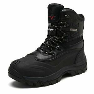 NORTIV 8 Men's Ankle Insulated Waterproof Winter Outdoor Hiking Snow Ski Boots