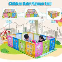 Children Kids Cartoon Play Pen Fence Playpen Baby Safety Pool Game Toddler Craw