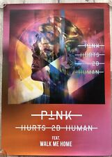 PINK - PROMO POSTER - HURTS 2B HUMAN (limited passes vinyl 2 lp cd tour deluxe)