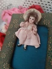 Antique Miniature Mignonette Doll All Bisque Early 1900s marked 77. French face