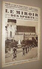 MIROIR SPORTS 1927 #375 CYCLISME TOUR FRANCE PELISSIER RAID MOTO SAHARA FOOTBALL