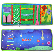 New listing Baby Intelligence Development Cloth Book Childrens Knot Zipper Educational Toy