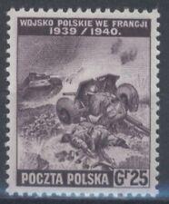 """3) Polnische Exil Regirung in London """" Poln.Truppen in Frankreich"""" Mi.370 (5867)"""
