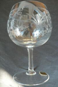 Theresienthal Cognac/Rotweinschwenker,Glas, Dekor :hangeschliffen