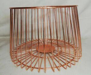 Basket To Fruit, Vegetable Metal D 7 7/8in H 5 7/8in Vintage Decor Collection