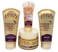Lotus Herbal Radiant Gold Cellular Glow Facial Kit (Set of 4) - 170 Gram
