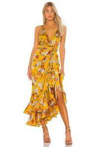 Bronx and Banco Narciss Floral High-Low Ruffle Maxi Dress Size XS MSRP: $580.00