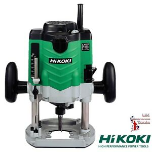"""Hikoki M12VE 110v Industrial Heavy Duty Router with 1/2"""" + 1/4"""" Collet + Case"""