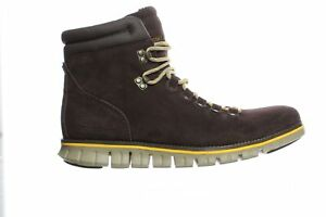 Cole Haan Mens Zerogrand Hiker Suede/Lemon Ankle Boots Size 10.5