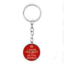 Vintage Glass Cabochon silver Matal Key ring(i have best sister in the world)