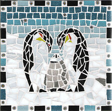KIT MOSAICO-Penguin design by Gisela Gibbon - 20CM X 20CM-CON TASSELLO nippers