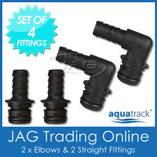 SET OF 4 - HOSE TAIL QUICK-CONNECT PLUG-IN FITTINGS  for 12V Water Pressure Pump