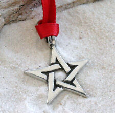 STAR PAGAN WICCAN Pewter Christmas ORNAMENT Holiday
