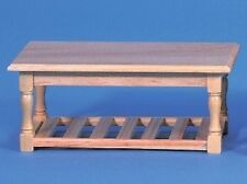 Pine Working Table. Dolls House Miniature Living / Lounge / Dining Room