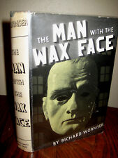 1st Edition MAN WITH THE WAX FACE Richard Wormser MYSTERY Pulp Fiction CRIME